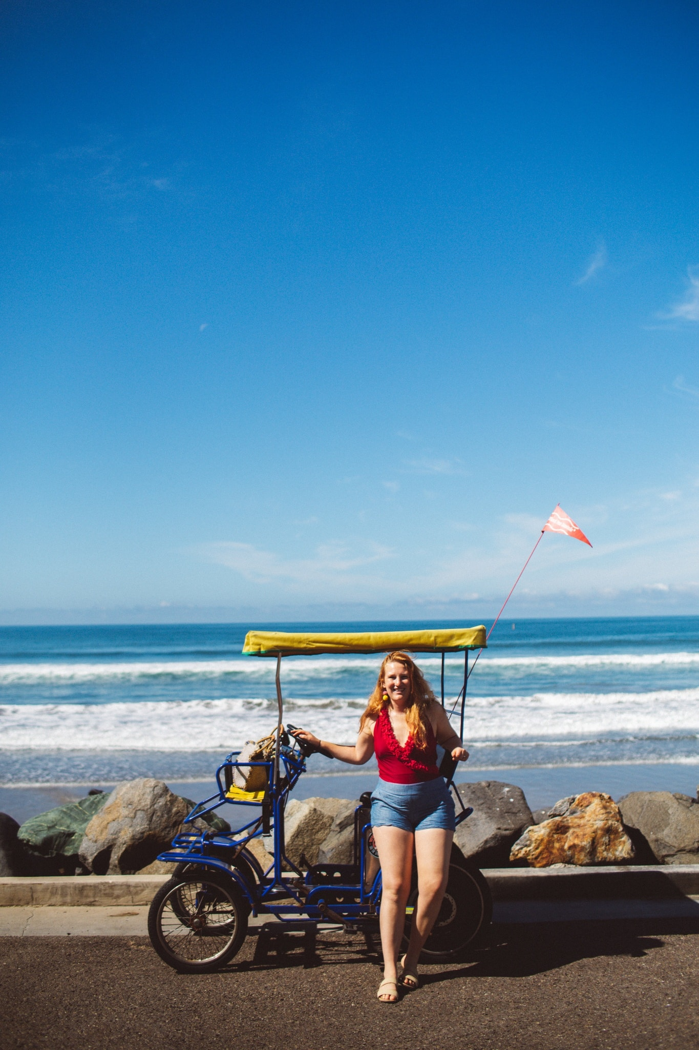 taking this beach cruiser for a ride on the Oceanside, CA beach