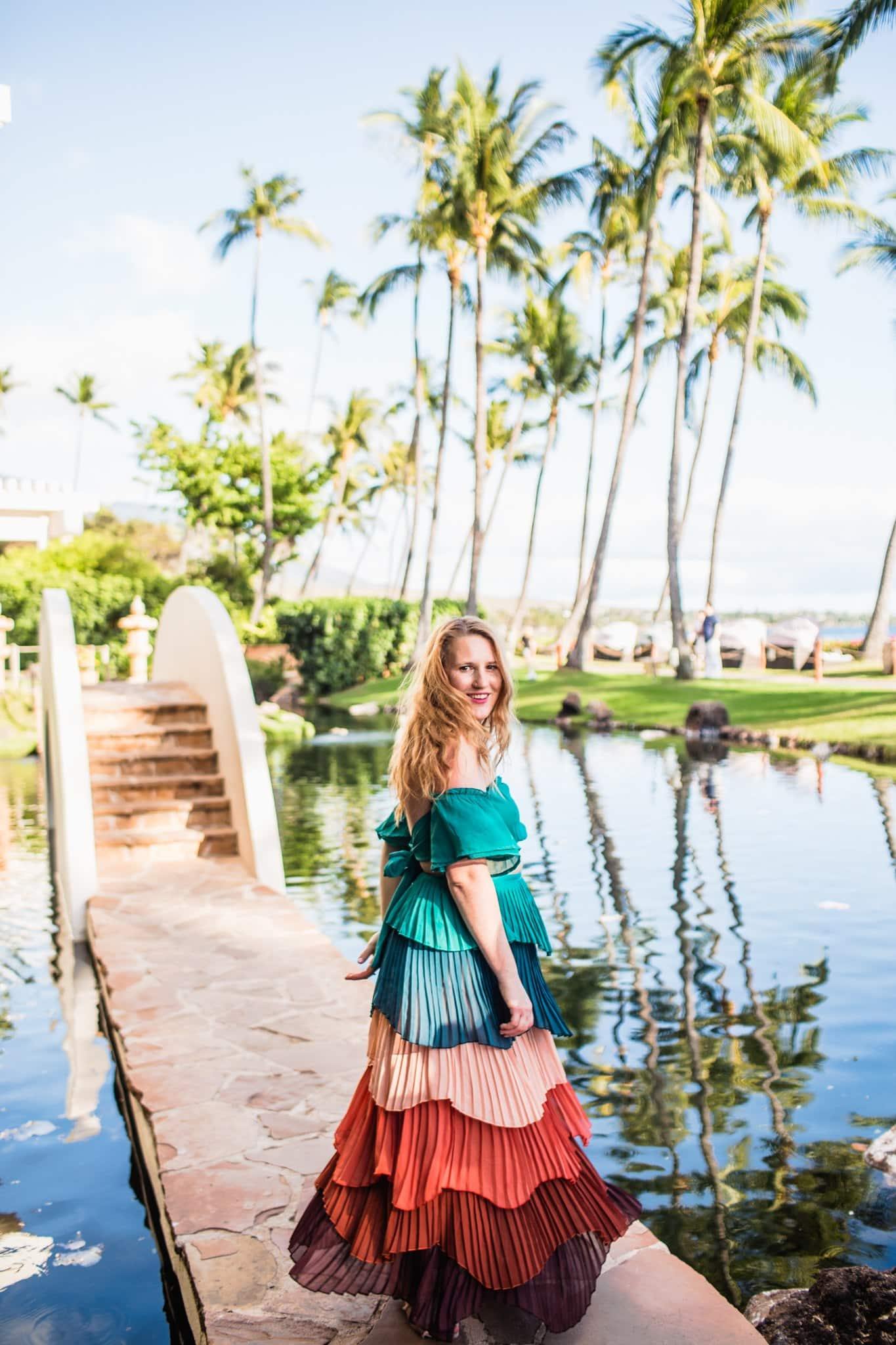 Instagram famous two piece outfit from Red Dress Boutique for dinner at the Hyatt Maui for Dinner