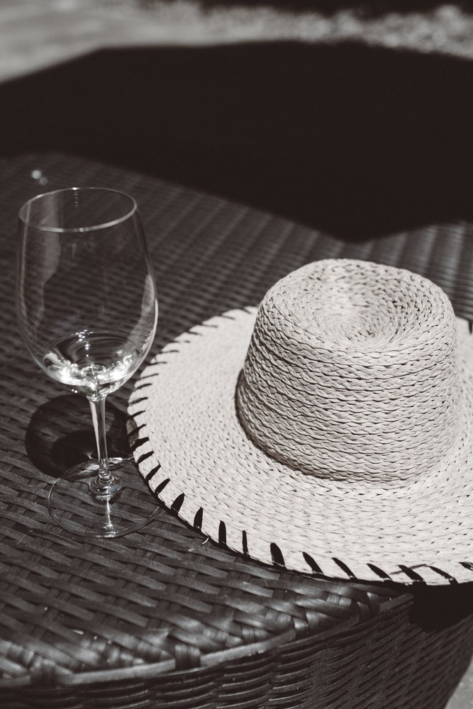 Wine and Sun hat at Roth Estates