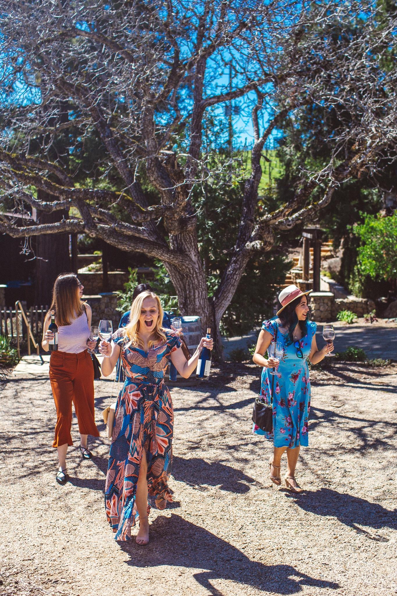 Women at Testarossa Winery in the Santa Cruz Mountains