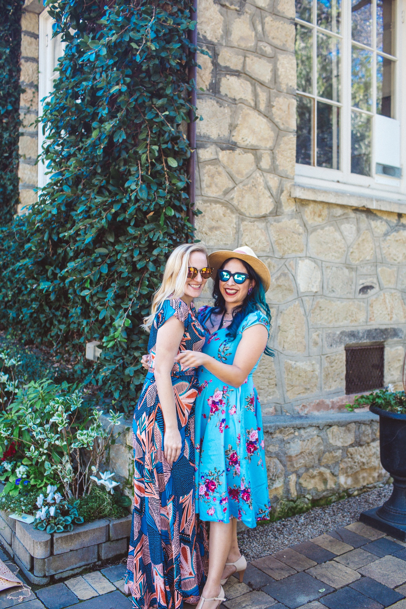 Two Women at Testarossa Winery in the Santa Cruz Mountains