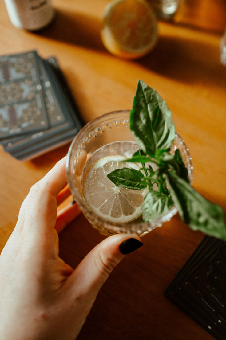 5-Minute Tequila Basil Cocktail Recipe