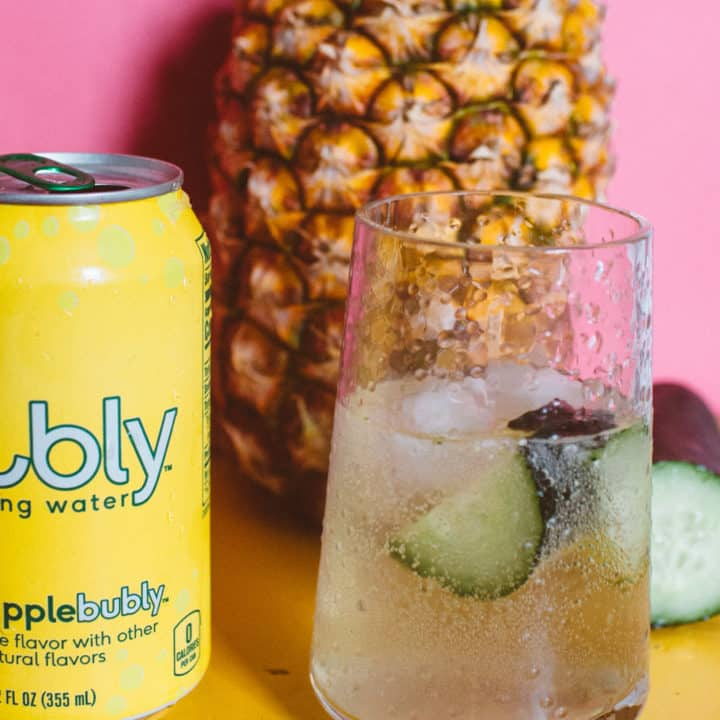 Pineapple Bubly With Cucumber Vodka Spritzer (Refreshing + Simple!)