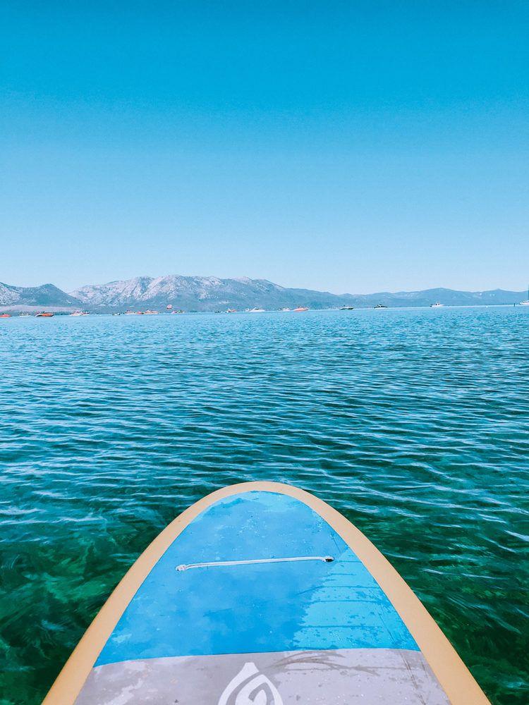Paddleboarding on Lake Tahoe