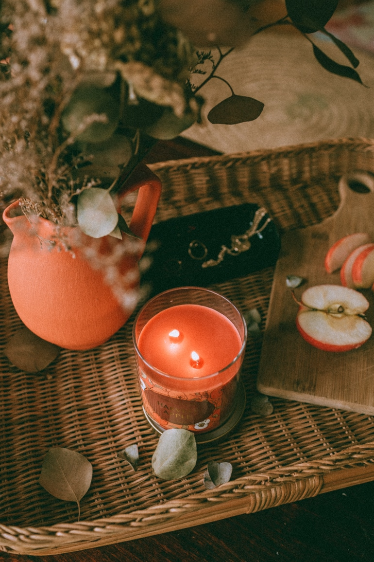 Our first candle of the month, Opalhouse Harvest Apple to give your home fall vibes