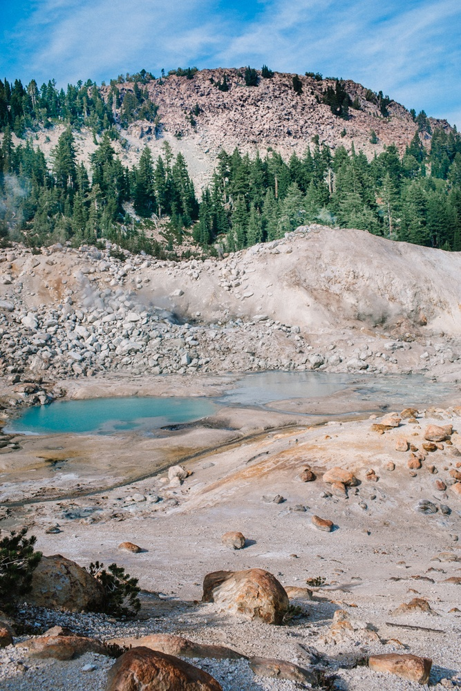 Bumpass Hell Sulfur Ponds in Lassen Volcanic National Park