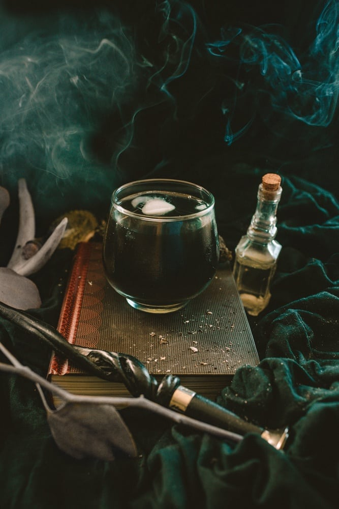 Death Eater's Smoke is a black margarita cocktail inspired by Harry Potter books and is the perfect Halloween cocktail