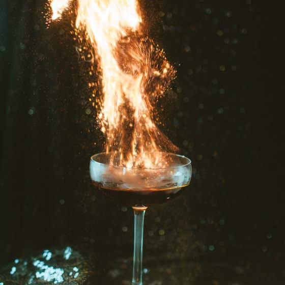 Flaming Floo Powder Harry Potter themed drink