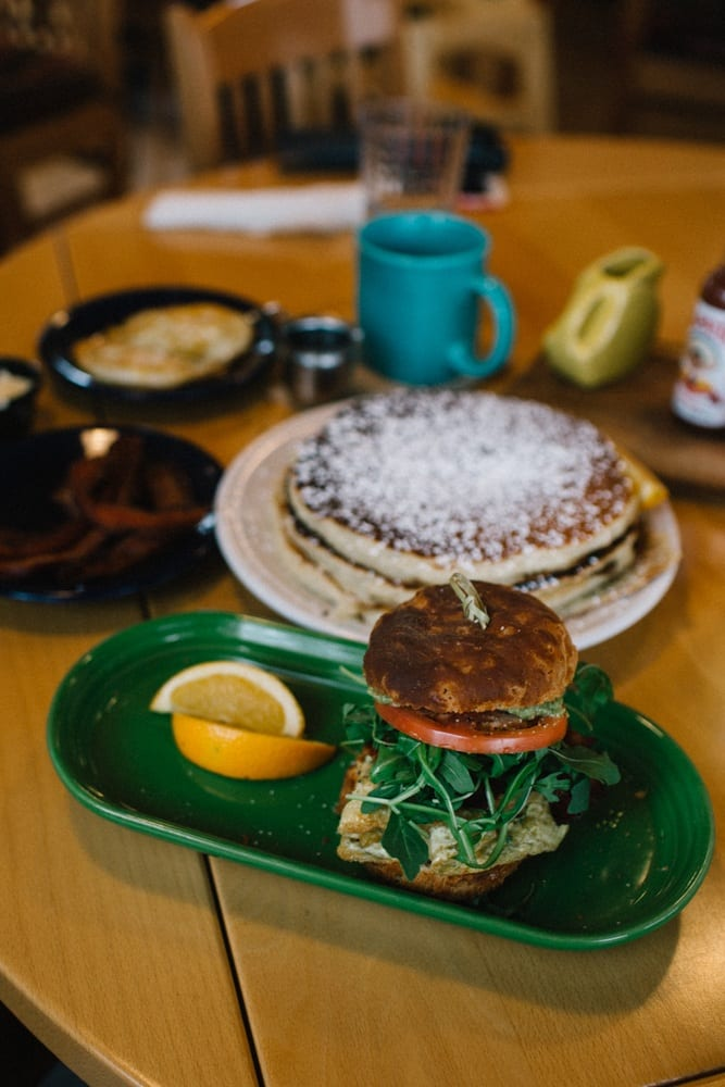 Delicious breakfast at Sleeping Lady Mountain Resort in Leavenworth, Washington