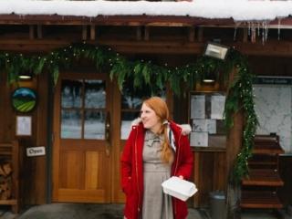 Kara at Sleeping Lady Mountain Resort in Leavenworth, Washington