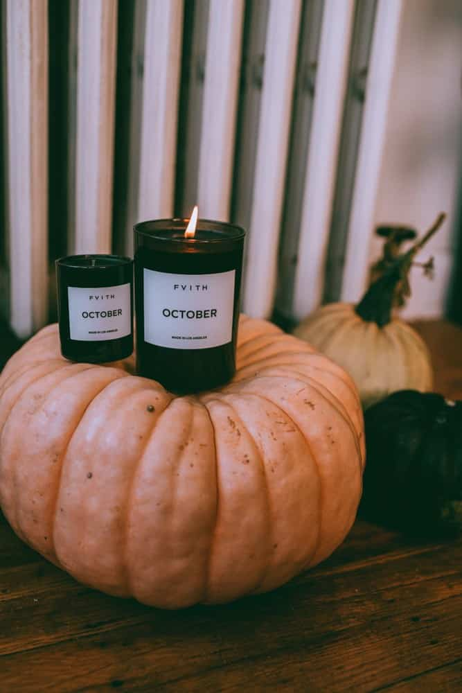October scented candle from Fvith