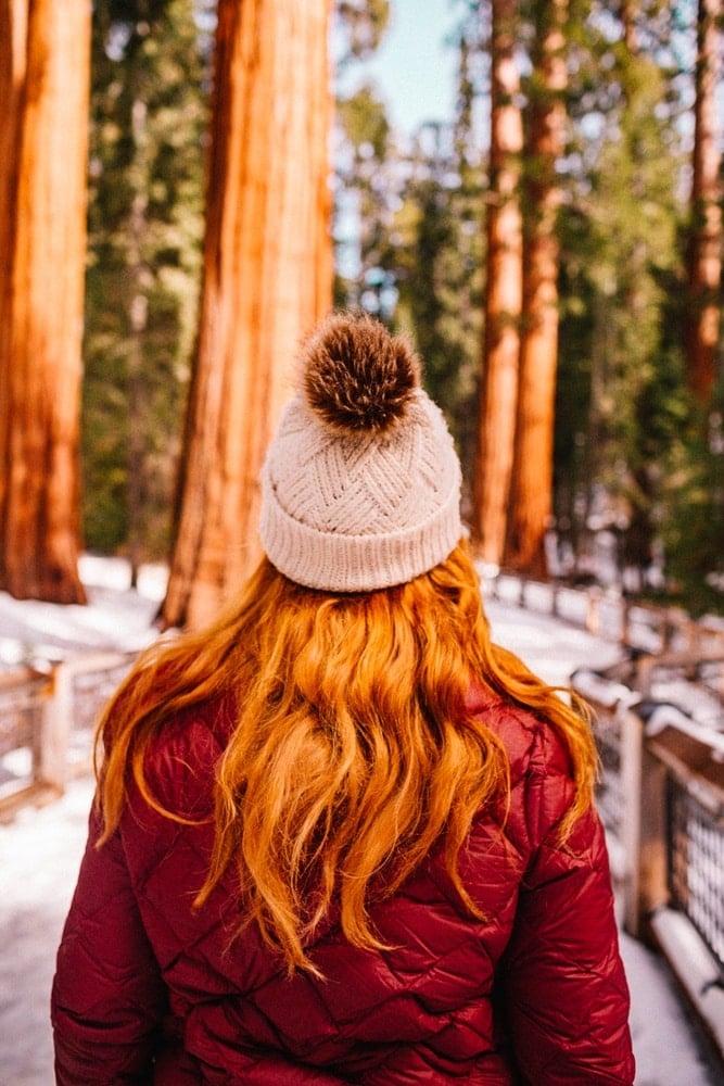 Kara in Mariposa Grove in Yosemite National Park