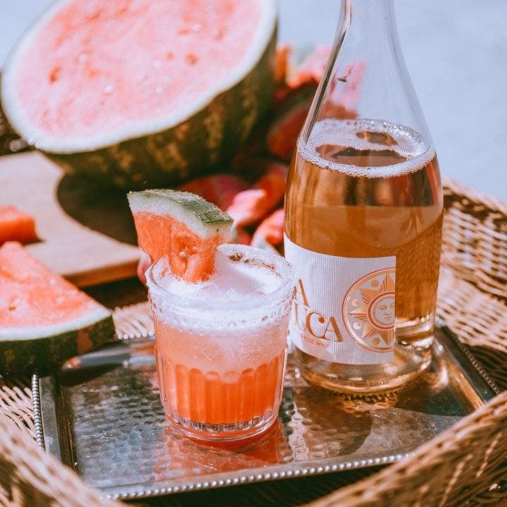 Easy Rosé Watermelon Cocktail